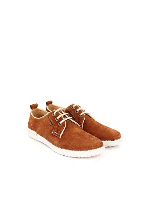 G.Ö.N. %100 Deri Bağcıklı Ayakkabı Taba